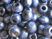 Wooden bead, round, 6mm, dark blue, 50 pcs