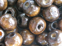 Wooden bead, round, 8mm, coffee, 50 pcs