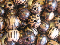 Patikan, wooden bead, round, 6mm, 15 pcs