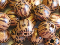 Palmwood, wooden bead, round, 8mm, 20 pcs