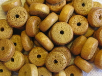 Nangka, wooden bead, pokalet, 10x5mm, 22 pcs