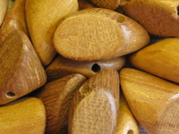 Nangka, wooden bead, nugget, 20x10mm, 10 pcs