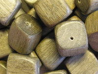 Greywood, wooden bead, dice, 12x12mm, 10 pcs