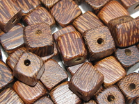 Robles, wooden bead, dice, 6x6mm, 20 pcs