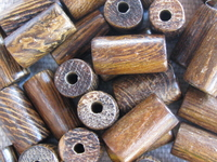 Robles, wooden bead, tube, 6x12mm, 10 pcs