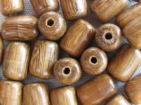 Robles, wooden bead, barrel, 10x15mm, 10 pcs