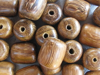 Robles, wooden bead, barrel, 12x14mm, 10 pcs