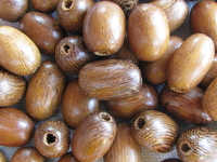 Robles, wooden bead, oval, 10x15mm, 10 pcs