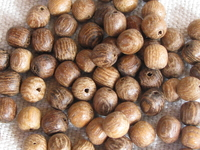 Robles, wooden bead, round, 4x5mm, 30 pcs