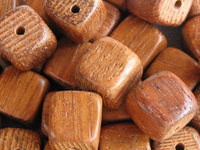 Bayong, wooden bead, cube, 10x10mm, 10 pcs
