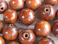 Bayong, wooden bead, round, 15mm, 10 pcs