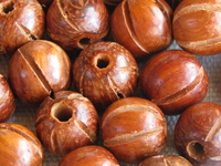 Bayong, wooden bead, round, 10mm, 10 pcs