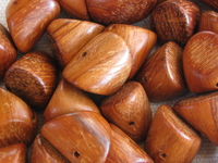 Bayong, wooden bead, nugget, 10x15mm, 10 pcs
