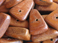 Bayong, wooden bead, triangle, 15x6mm, 15 pcs