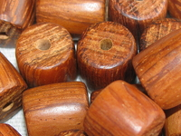 Bayong, wooden bead, barrel, 11x12mm, 14 pcs