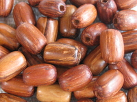 Bayong, wooden bead, 5x7mm, rice, 20 pcs