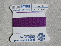 Power Nylon, No3, violetti, 2m lanka neulalla