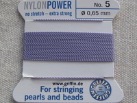 Power Nylon, No 5, lila, 2m lanka neulalla