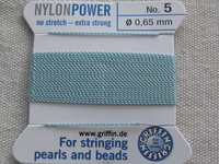 Power Nylon, No 5, turkoosi, 2m lanka neulalla
