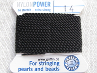 Power Nylon, No 14, musta, 2m lanka neulalla