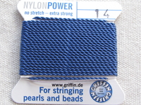 Power Nylon, No 14, sininen, 2m lanka neulalla