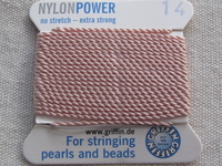 Power Nylon, No 14, pink, 2m lanka neulalla
