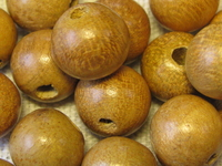 Nangka, wooden bead, round, 10mm, 20 pcs