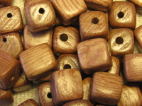 Rosewood, wooden bead, dice, 6x6mm, 30pcs