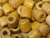 Nangka, wooden bead, tube, 6x6mm, 25 pcs