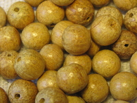 Nangka, wooden bead, round, 6mm, 25 pcs