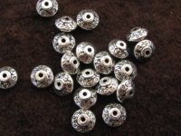 Metal bead, 7x7x4,5mm, 14 pcs
