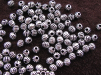Metal bead, 4mm, round, 33 pcs