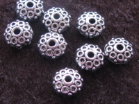 Metal bead, 8,5x4mm, coin, 8 pcs
