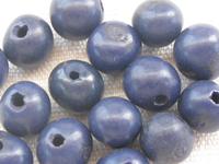 Acai, 10mm, dark blue, 15 pcs