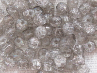 Glass bead, crackle, cylinder, 4x4mm, grey, 150 pcs