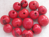Acai, 10mm, red, 15 pcs