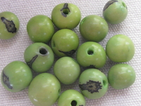 Acai, 10mm, lime, 15 pcs