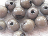 Acai, 10mm, grey, 15 pcs