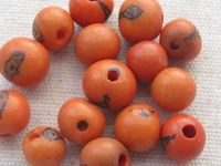 Acai, 10mm, pale orange, 15 pcs