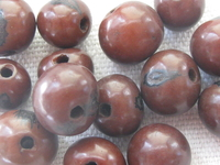 Acai, 10mm, dark brown, 15 kpl
