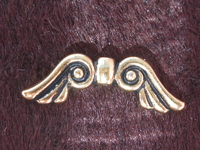 TC helmi, Angel Wings, kulta väri, 20x7mm, 1 kpl