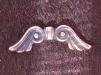 TC helmi, Angel Wings, pronssi väri, 20x7mm, 1 kpl
