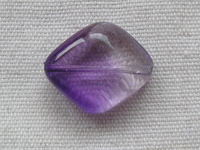 Glass bead, diamond, 24x20, purple, 1 pcs