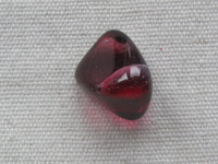 Glass bead, nugget, 14x19mm, red, 1 pcs