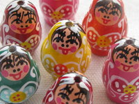 Other decorated wooden beads