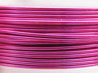 Artistic wire, 0.64mm, hopeoitu, fuksia, 9,14m