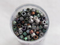 Delica bead, 11/0, mix matte heavy, 7,2g