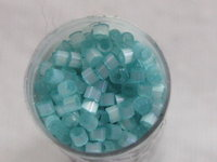 Delica bead, 11/0, silk satin aqua green, 7,2g