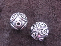 Metal bead, large, round 13mm, ball, 1 pcs