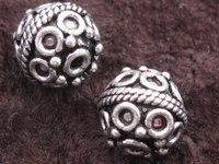 Metal bead round 10mm, ball decoration, 1 pcs